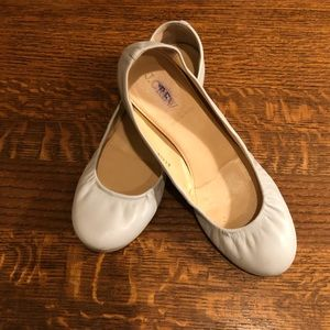 Light grey leather flats J.Crew Made in Italy